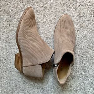 Lucky Brand Farel suede ankle beige booties 8.5